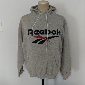 Reebok Men's Hoodie Gray Large